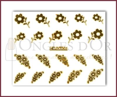 3-D Nail Sticker Gold (D3DT001O)