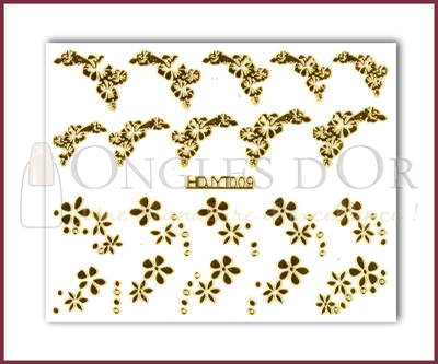 3-D Nail Sticker Gold (D3DT009O)