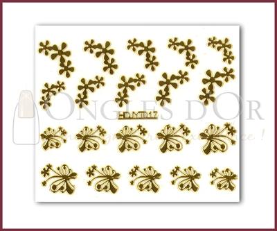 3-D Nail Sticker Gold (D3DT017O)