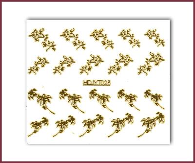 3-D Nail Sticker Gold (D3DT025O)