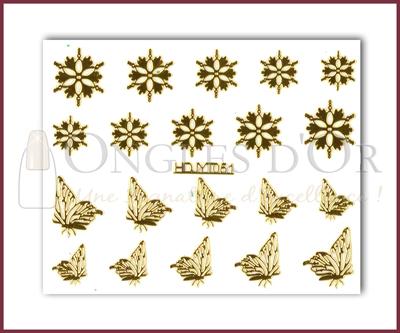 3-D Nail Sticker Gold (D3DT051O)