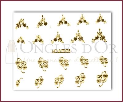 3-D Nail Sticker Gold (D3DT075O)