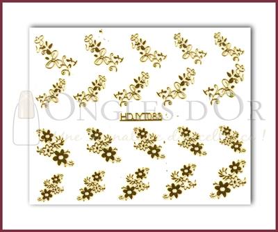 3-D Nail Sticker Gold (D3DT083O)