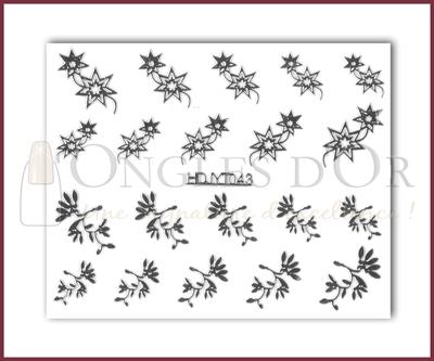 3-D Nail Sticker Silver (D3DT043A)