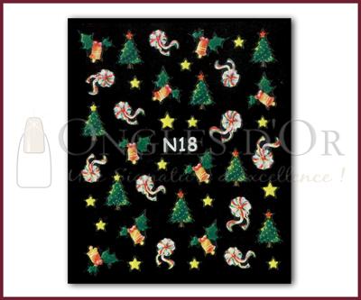 3-D Nail Sticker model Christmas N18