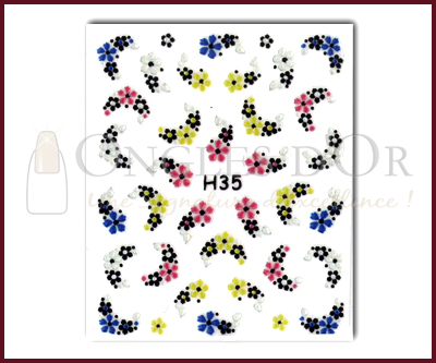 3-D Nail Sticker model H35