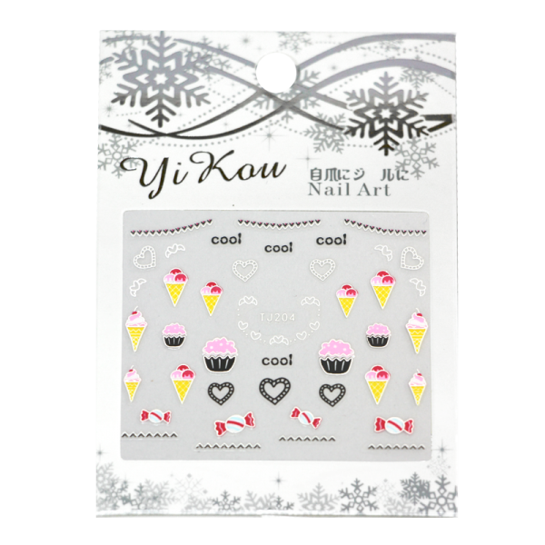 3-D Nail Sticker model cupcakes TJ204
