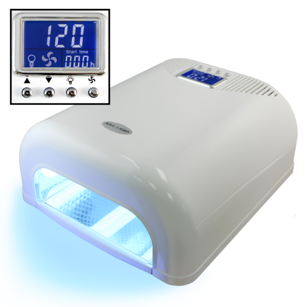 36 Watts UV Lamp with 5s to 15min Timer (elect.) – White