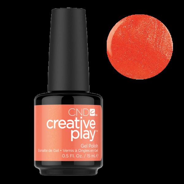 CND Creative Play Gel Polish #421 Orange You Curious 0.5oz