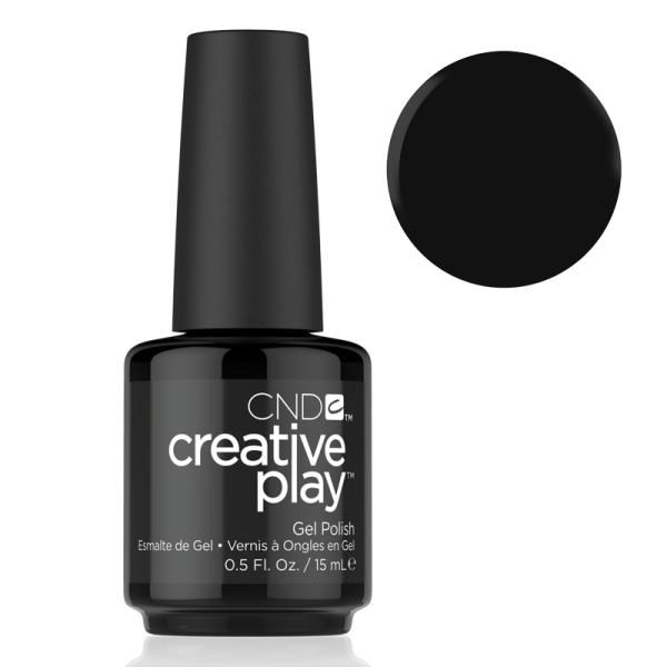 CND Creative Play Gel Polish #451 Black Forth 0.5oz