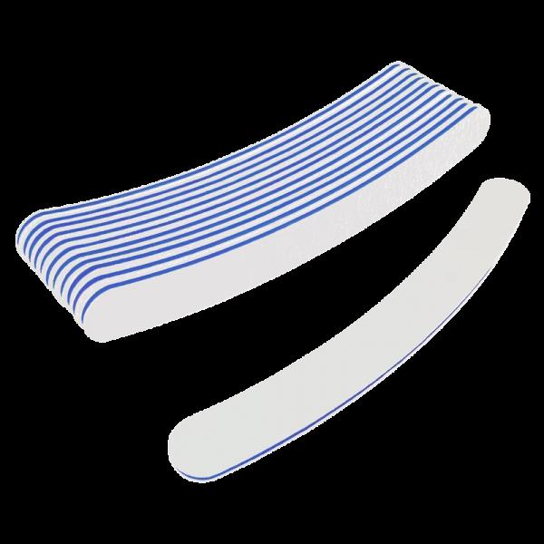 Curved Files White 100/180 (Dozen) W