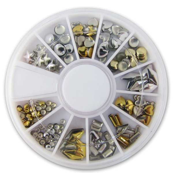 Decorative Metal Studs – Gold and Silver