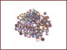 Decorative Stones – Round/Clear Holographic – 144 pcs