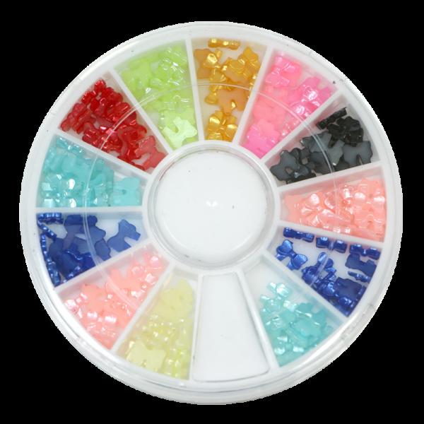 Decorative bow wheel – various colors 5x4mm