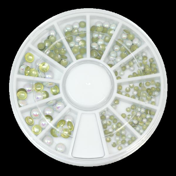 Decorative metal studs – holographic white