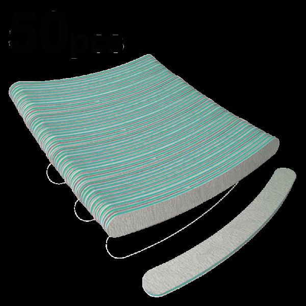 INM Curved File Zebra #9, 100/180 (50 pcs)