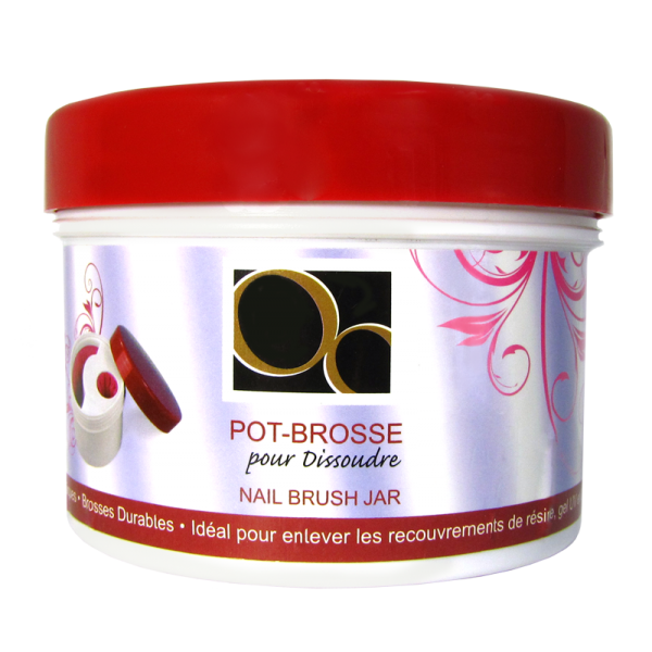 Nail Brush Jar Ongles d'Or (Empty)