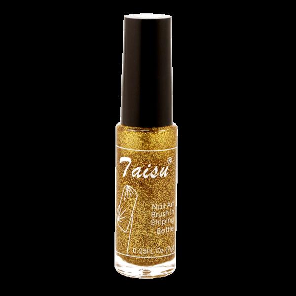 Nail art striper nail polish - small gold glitter #499