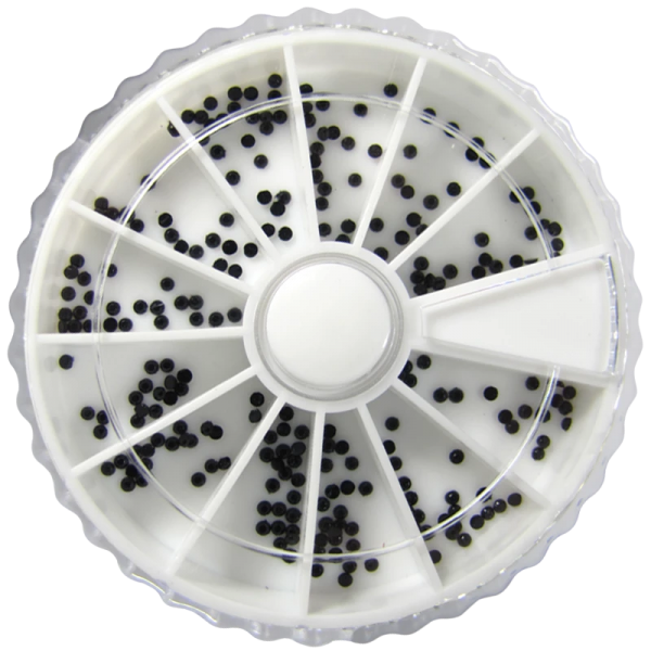 Rhinestone Wheel – Round Shaped – Black Color 1.5w