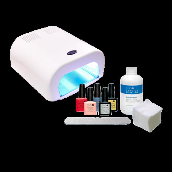 Shellac CND UV polish starter kit + 36W UV lamp (110V)