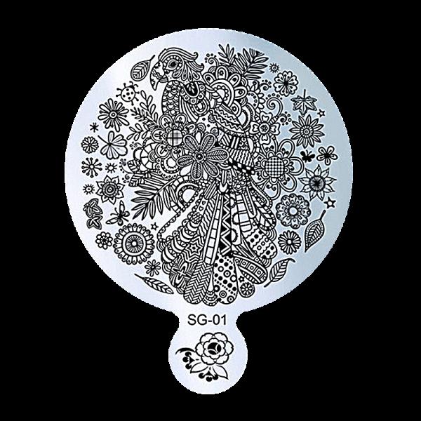 Stamping Image Plate – SG-01 9cm diameter