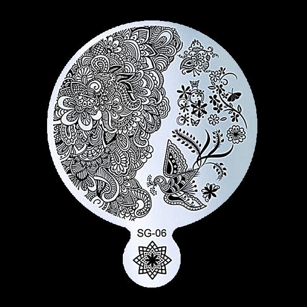 Stamping Image Plate – SG-06 9cm diameter