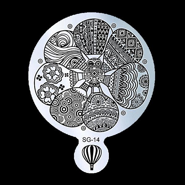 Stamping Image Plate – SG-14 9cm diameter