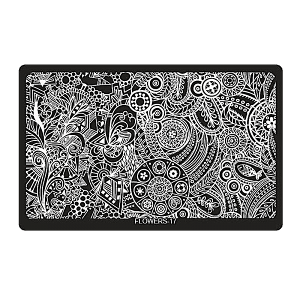 Stamping Image Plate – XL FLOWERS-17 (6,5'' x 4'')