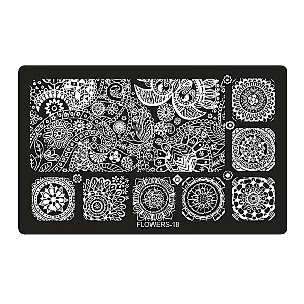 Stamping Image Plate – XL FLOWERS-18 (6,5'' x 4'')