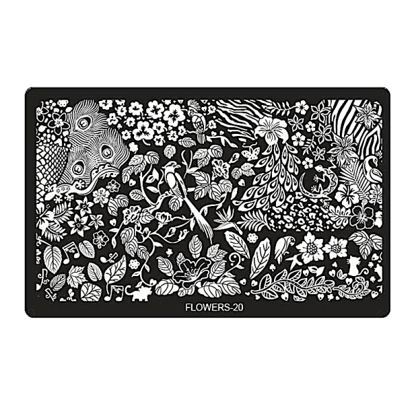 Stamping Image Plate – XL FLOWERS-20 (6,5'' x 4'')