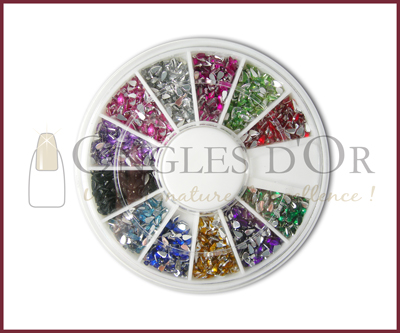 Stone Wheel – Teardrop Shaped – Various Colors (1200 pcs)