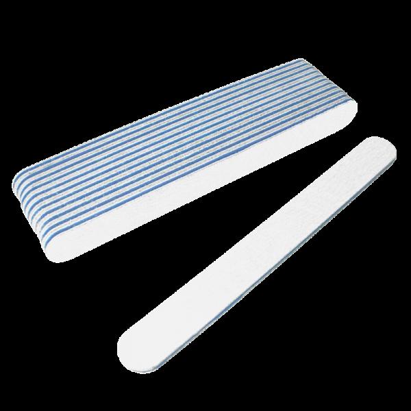 Straight Files White 100/180 (Dozen) W