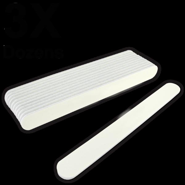 Straight Files White 80/100 (3 Dozens) W