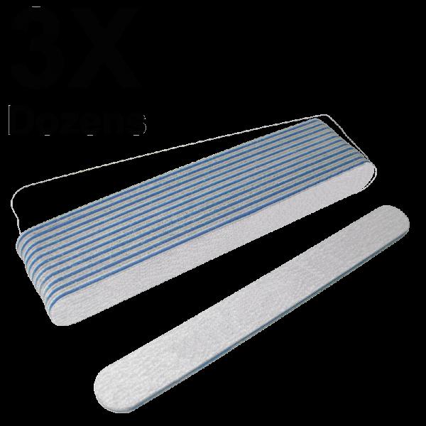 Straight Files Zebra 100/180 (3 Dozens) W