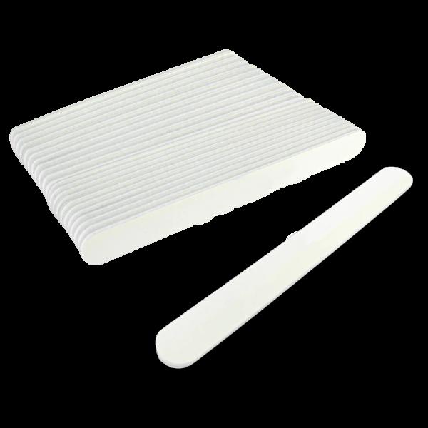 Straight White Nail File XS 80/80 (50 units)