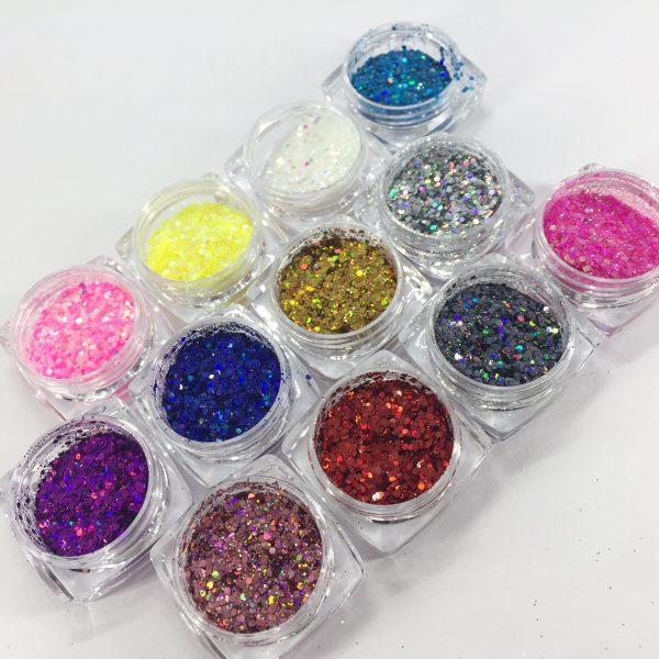 Valerie Ducharme Glitter Holographic 3 sizes 12 pcs