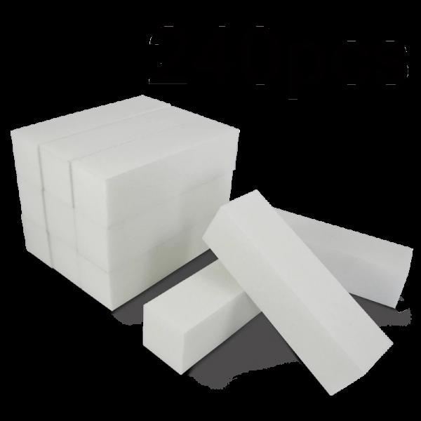 White Buffer Block (4 sides) (240 pcs)