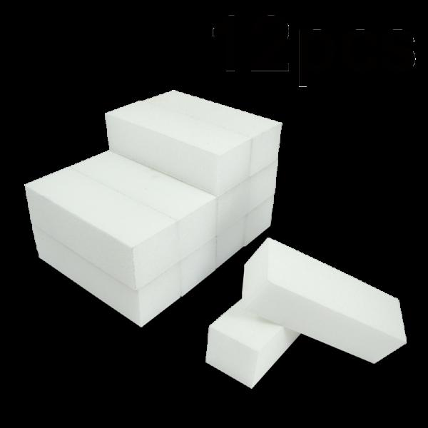 White Buffer Block 80/150 (3 sides) (12 pcs)